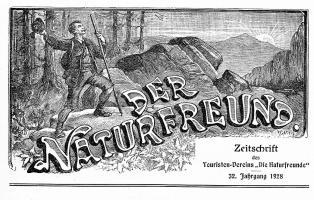 """Titel der Zeitschrift """"Der Naturfreund"""" von 1928"""